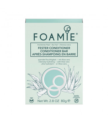 Foamie Après-Shampooing en Barre - Aloe You Vera Much Pour cheveux secs 80g 4 L'après shampoing Solide pour cheveux secs