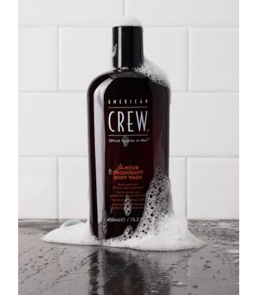 American Crew 24hour Deodorant Bodywash 450ml 2 Savon avec une odeur longue durée