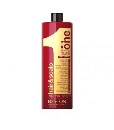 Revlon Professional Uniq One Original Shampooing-baume 1000ml Shampoing nourrissant pour tous types de cheveux - 1