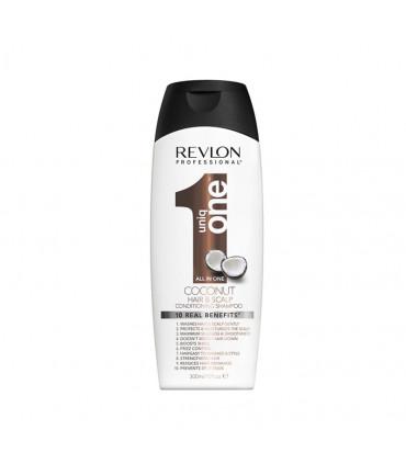 Revlon Professional Uniq One Shampoo-conditioner Coconut 300ml Versterkende Shampoo voor Alle Haartypen - 1