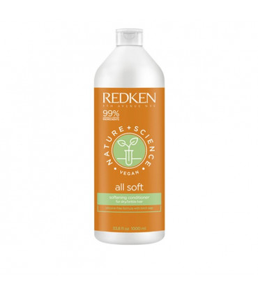 Redken Nature+Science All Soft Conditioner 1000ml Hydraterende Conditioner voor Droog en Beschadigd Haar - 1