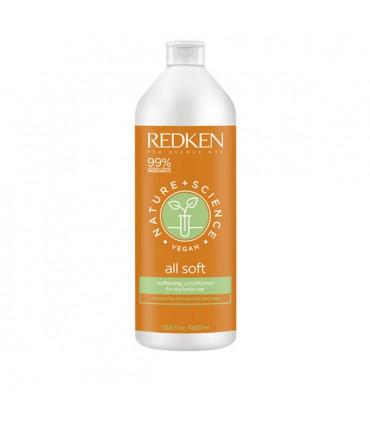 Redken Nature+Science All Soft Soin 1000ml Après-shampooing à la sève de bouleau  - 1
