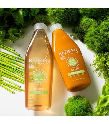 Redken Nature+Science All Soft Soin 250ml Après-shampooing à la sève de bouleau  - 2
