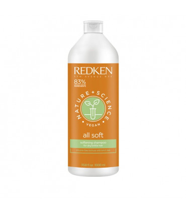 Redken Nature+Science All Soft Shampooing 1000ml 1