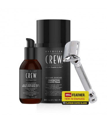 American Crew Foam Shaving Kit & All-in-One Face Balm Kit de rasage - 1