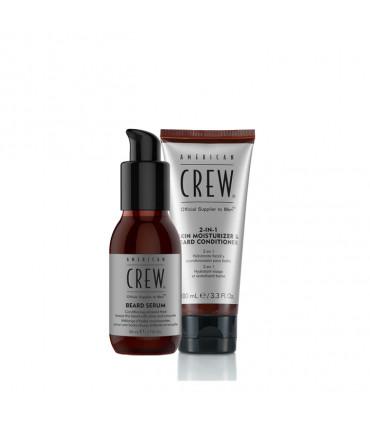 American Crew Skin Moisturizer & Beard Serum Kit de rasage - 1