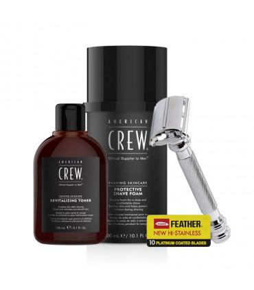 American Crew Foam Shaving Kit & Revitalizing Toner Kit de rasage - 1