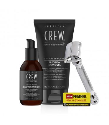 American Crew Gel Shaving Kit & All-in-One Face Balm Kit de rasage - 1