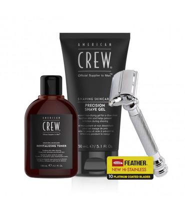 American Crew Foam Shaving Kit & Shave Gel Kit de rasage - 1