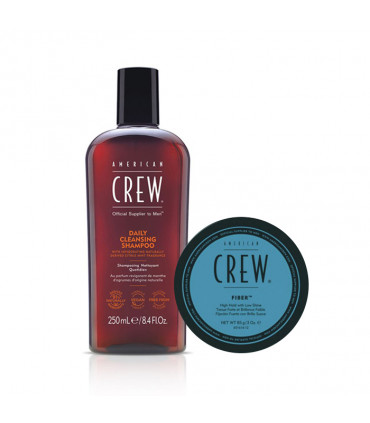 American Crew Daily Cleansing Shampoo & Fiber Duo pour Homme - 1