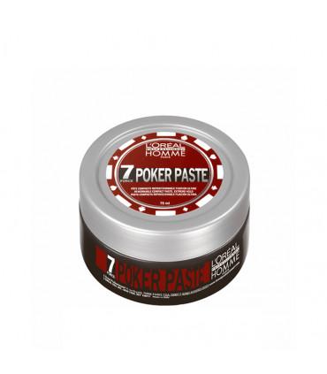 L'Oréal professionnel LP Homme Poker Paste 75ml Pâte modelante fixation extra forte - 1