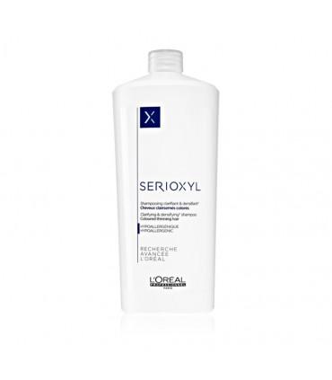 L'Oréal professionnel Serioxyl Shampooing Cheveux Colorés 1000ml Shampooing clarifiant pour cheveux affinés colorés, enrichi au