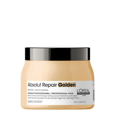 L'Oréal professionnel Série Expert Absolut Repair Golden Masker 500ml Herstellende gold masker voor beschadigd haar - 1