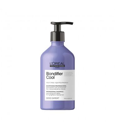 L'Oréal professionnel Série Expert Blondifier Cool Shampooing 500ml Shampoing neutralisant pour blonds froids - 1