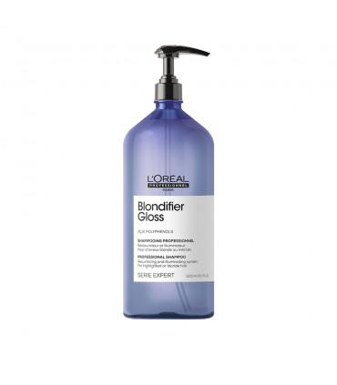 L'Oréal professionnel Série Expert Blondifier Gloss Shampooing 1500ml Shampooing restaurateur et illuminateur pour cheveux blond