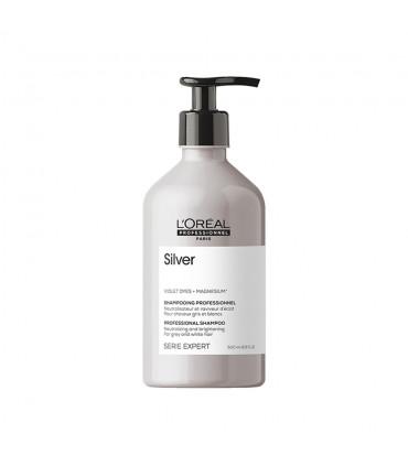 L'Oréal professionnel Série Expert Silver Shampooing 500ml Shampooing éclat pour cheveux gris & blancs - 1