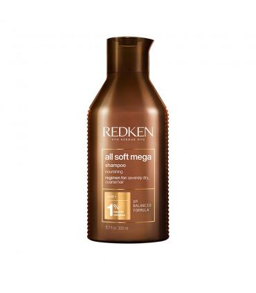 Redken All Soft Mega Shampoo 300ml Reinigend en Voedend Shampoo voor Droog Haar - 1