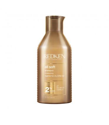 Redken All Soft Shampoo 300ml Shampoo voor droog en broos haar met Arganolie - 1