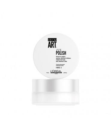 L'Oréal professionnel Tecni Art19 Fix Polish 75ml Een compacte gel-in-wax met plantaardige karamel. - 1