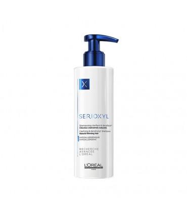 L'Oréal professionnel Serioxyl Shampooing Cheveux Naturels 250ml Shampooing clarifiant pour cheveux clairsemés naturels, enrichi